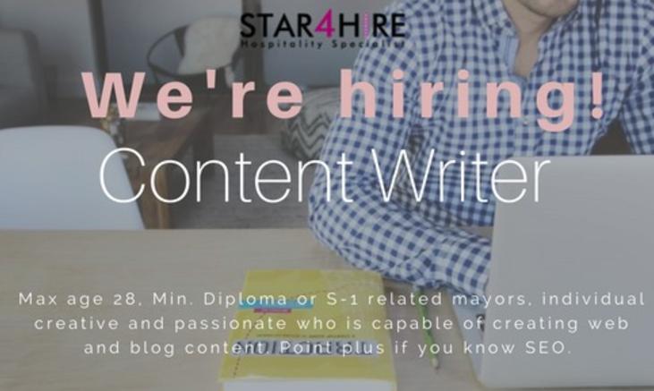 lowongan kerja content writer