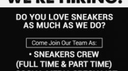 lowongan part time sneakers