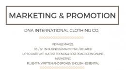 lowongan kerja marketing promotion DNA store