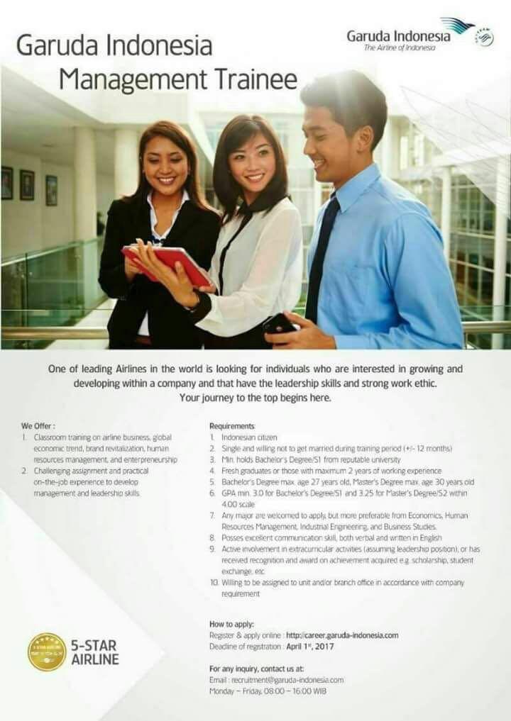 lowongan management trainee