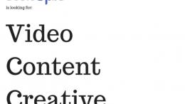 lowongan magang video content creative