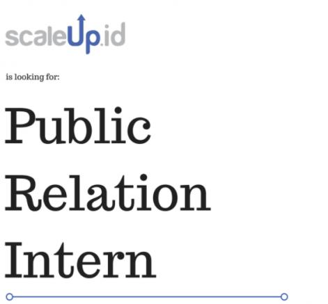 lowongan magang public relation scaleup