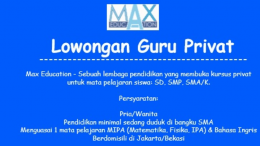 lowongan part time max education