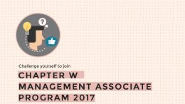 lowongan Management Associate Program - Community Relation Executive chapter w
