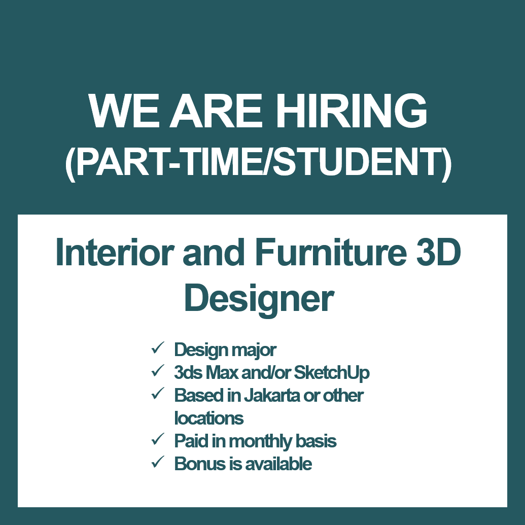 Intern Part Time Interior Designer Studentjob Indonesia