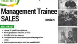 lowongan management trainiee ruma