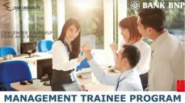 lowongan management trainee bank bnp