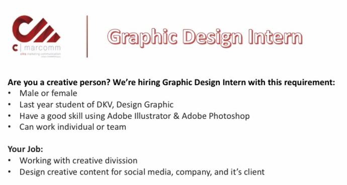 Graphic Design Publishing Internship